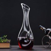 النبيذ الأحمر decanter 1000ML خالية من الرصاص النبيذ فاصل النبيذ النبيذ الصحوة وعاء طويل الرقبة تقطير البقس شريط مدمني الكحول