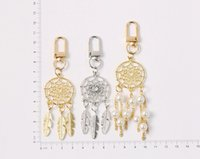 Dreamcatcher Feather Tassel Imitated Pearl Keychain For Women Key Chains Ring Bag Pendent Charm Gifts CCF7749