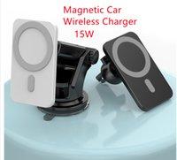 15 W Manyetik Araba Kablosuz Şarj Araba Tutucu Süper Adsorpsiyon IP12 Hızlı Kablosuz Şarj Araba Cep Telefonu Tutucu için