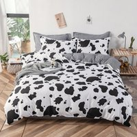 Conjuntos de ropa de cama Sistemas de vacas Conjunto de copa de cama nórdica Dibujos animados para ropa de cama Casa Lindo edredón para niños Edredón de calidad de lijado
