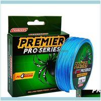 Trança OutdoorsProid Sports Outdoors 100meters / 1box Linhas azuis 4 Tece-se trançado disponível 6LB-100LB LINE PE PESCA PESCA DROP DELIV