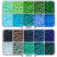 1000 stücke / box Miyuki Kristall Rondelle 4mm österreichische Glas Runde Perlen Lose Spacer DIY Machen Charms Schmuck Zubehör Handarbeit