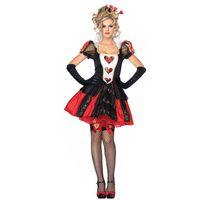Sexy Alice dans Wonderland Princess Cosplay Costume Costume Halloween Partie méchant Naughty Reine Reine de coeur Femmes Robe Fantaisie