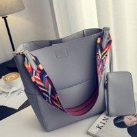 Nigedu Brand Designer Mujer Bolso Bolso grande Capacidad Colorida Correa Hombro Bolso PU Cubo de cuero Bolsos Crossbody Bolsos Ladies Big Totes 210226