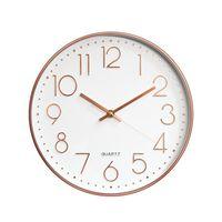 Orologio da parete rotondo in stile europeo rose da parete per bambini soggiorno camera da letto ufficio slient orologio al quarzo moda moda casa ornamento