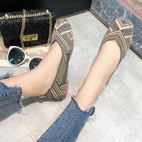 Zapatos de tela Mujeres 2020 primavera nueva moda cómoda grande tamaño salvaje fondo plano uno pedal Pedal embarazadas zapatos zapatos cómodos dis 61fe #