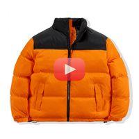 Kış Amerika Marka Kuzey Parkas Karışık Renkler Çift Pamuk Mont Rahat Standı Yaka Sıcak Aşağı Kirpi Ceketler Erkekler / Bayanlar Top