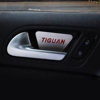 Poignée intérieure de voiture Poignée intérieure Couvre-boîte Protection des rayures Emblem Sticker pour Volkswagen VW Tiguan MK1 2010-2016 Accessoires