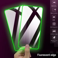 Luminous Tempered Glass Screen Protector Full Cover For iPhone 6 7 8 11 12 X XS XR Pro Mini Max