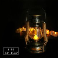 Portable Lanterns LED Candle Light Tent Home Decor Waterproof Lantern Outdoor Camping Retro Flameless Oil Lamp Solar Power Reading Hanging G