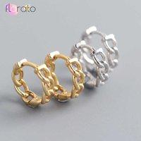 Classic Small Chain Style Gold Hoop Earrings Punk Simple Circle Earring Women Jewelry 925 Sterling Sier Ear Buckle