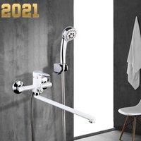 White Bathroom Faucet Outlet Pipe Pipe Bagno Doccia Rubinetto Ottone Body Superficie Body Spray Pittura Doccia Doccia Testa Bagno Tap