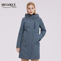 Женская куртка Miegofce длинная стеганая ветровка высокого качества, заполнение водонепроницаемой ткани женское пальто Blazer 210923
