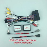 Car Radio Cable CAN Bus Audio amplifier Box Adapter for HYUDAI Santa fe IX45 Wiring Harness Media Player Power Connector Socket