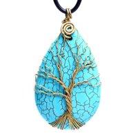 Ciondolo della collana della cighetteria del quarzo del quarzo del cristallo del turchese naturale del turchese