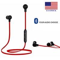 Kablosuz Bluetooth Spor Kulakiçi Stereo Kulaklık Kulaklık Kulaklık Ile MIC Earpods C0043 ABD Stoklar
