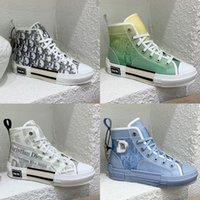 Tasarımcı Rahat Ayakkabılar Erkek Sneakers B23 Eğik Bayan Yüksek Düşük Teknik Tuval Deri Arı Klasik Lüks Erkek Kadın Nefes Açık Platformu Eğitmenler
