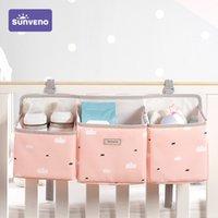 Sunveno 베이비 주최자 기저귀 캐디 가방 기저귀 Caddies 주최자 보육 교수형 스토리지 가방 침대 210312