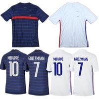 2021 Homens Nacionais Mulheres Crianças Casa Afraxe Branco Futebol Jerseys França Mbappe Grisezmann Pogba Giroud Zidane Kante Lloris Futebol Camisas