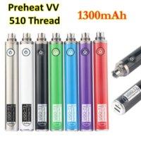 Baterias de pré-aquecimento da bateria da bateria de Ugo T3 1300mAh Pré-aqueça VAC VAZ PEN510 Thread Bottom Porta do carregador de USB para EVOD MT3 EGO CE4 ECIG