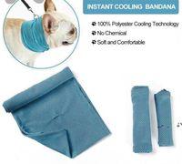 Korzyści Chłodzenie Ręcznik Bandana Dla Pet Dog Kot Szalik Lato Oddychające Fajne Ręczniki Wrap Akcesoria Blue Bows w Torba Detaliczna Pakiet EWF6364