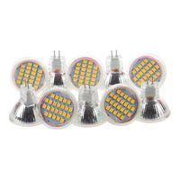 Ampoules 10pcs MR11 Gu4 Warm White 3528 SMD 24 LED Home Spotlight Lampadaire Ampoule 1W 12V