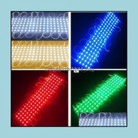 Feiertagslichter LightingDC12V 5 Modul Beleuchtung DC12V Wasserdichte LED-Module 20 stücke pro Zeichenfolge Warmweiß Rot Grün Blau Gelb Tropfen liefern