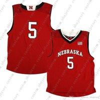 Barato Custom Nebraska Cornhuskers NCAA meninos # 5 afastado vermelho basqueteball jersey personalidade costura personalizado qualquer nome número xs-5xl