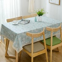Vieruodis кружевной столовой ткань стиральная вечеринка скатерть цветок прямоугольный стол крышка ужина для пикника домашняя ткань