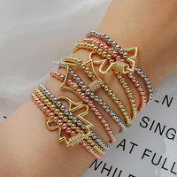 Charm Bracelets Rose Gold Multilayer Chain Bangle For Women Simple Handmade Big Star Pendant Bracelet Fashion Zircon Jewelry
