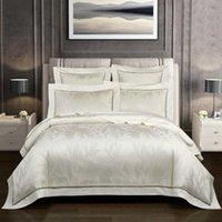 Vintage Jacquard 1000TC Egyptian Cotton Duvet Cover set Super King Family size Bedding Comforter Fitted sheet 4 7Pcs 210721