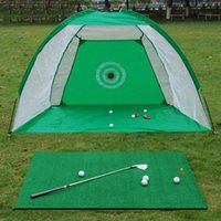 Balight 1 Set Golf Training Net Folding Golf Treffer Käfig Indoor- und Outdoor Park Gras Training Zeltausrüstung