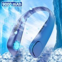 Printers F01 Mini Neckband Fan Portable Bladeless Rechargeable Leafless Hanging Fans Air Cooler Cooling Wearable 9000mah