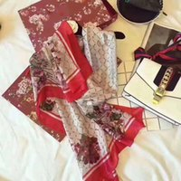 Высокое качество 100% шелковый шарф модные женские шарфы известный дизайнер длинные шали обертки без коробки