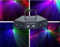 110 V-240 V Altı-Gözler Lazer Tarama Işıkları DMX512 RGB Tam Renkli Lazer Işık Hattı Etkisi Sahne Aydınlatma 6 Lens Tarayıcı Lazer DJ Disko Ekipmanları