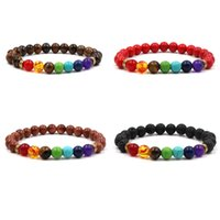 Handmade 8mm Natural Energy Stone Beaded Strands Charm Bracelets For Women Men Party Club Yoga Colorful Jewelry