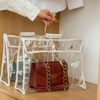 Storage Bags Hanging Handbag Organizer Dustproof Closet Space-saving Bag Transparent Dust Cover Wardrobe Purse