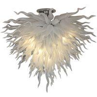 Moderno moderno lampadario bianco Lampadario Led Art Glass Pendant Lights Livingroom Bedoom Decorazione dell'hotel A Mano Blown Vetro Accetta Personalizzazione