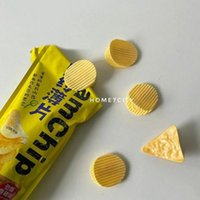 Bag Clips 5PC Cute Yellow Potato Chip Clip Storage Stationery School Supplies Food Kitchen Items Gadgets