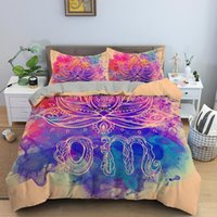 Bedding Sets Modern Puzzle Mandala Digital Printed Down Quilt Cover Pillowcase 3D Bohemian Style Set Single Queen Extra Large Size