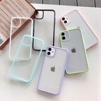 Clear Pure Candy Color Phone Cases Transparent for IPhone 13 Pro Max 12 11 X XR XS 7 8 Plus Hard Acrylic Back Cover