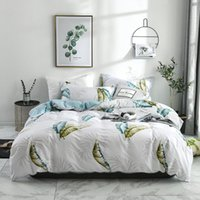 Bedding Sets 2 3 Pcs Luxurious Brand Duvet Cover Set Black And White Twin queen king Size Grid Comforter