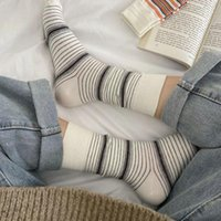 Men's Socks 1 Pair Striped Women's Spring And Autumn Thin Section All-match Personality Pile Long Tube Trendy