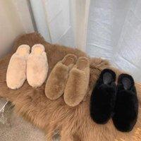 Terlik Kadın Vizon Saç Baotou Dış Moda Giymek Tüm Maç Tembel Kuzu Kıvırcık Yün Ayakkabı Düz Satış