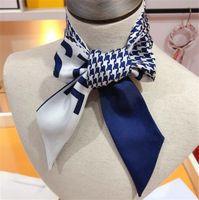 Foulard de soie Foulard de soie Foulard de mode Foulard Foulard Soie Silk Silk Silk Hair Bands 100 * 5cm