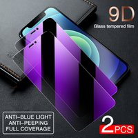 9D Anti Spy Blue Light Tempered Glass For iPhone 13 12 11 Pro XS Max X XR Privacy Screen protectors 7 8 6 6S Plus