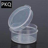 Cajas de almacenamiento contenedores 50pcs 11 tamaños redondos Caja de plástico transparente Pequeño artículo Contenedores Beads Crafts Jewelry Mostrar caja