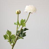 Grazioso ranunculus stelo seta fiori artificiali in seta alta simulazione fiori di matrimonio fiori decorazione della casa