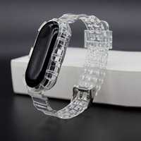 ANTICOLLISION WATCH TÉLÉPHONE BAND BAND COUVERTURE POUR XIAOMI MI 6 5 4 3 Bracelet de sport Silicone TPU transparent Bracelet transparent
