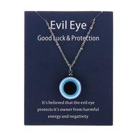 Blue Glass 20mm Evil Eye Pendants Necklaces For Women Men Turkey Evils Eyes Lucky Necklace Choker Jewelry Accessories